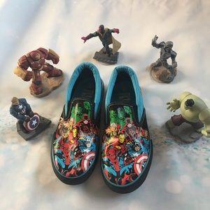 Marvel Super Heroes slip on sneakers